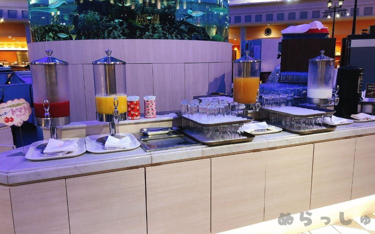 杉乃井ホテル・シーダパレスの朝食ドリンクバー