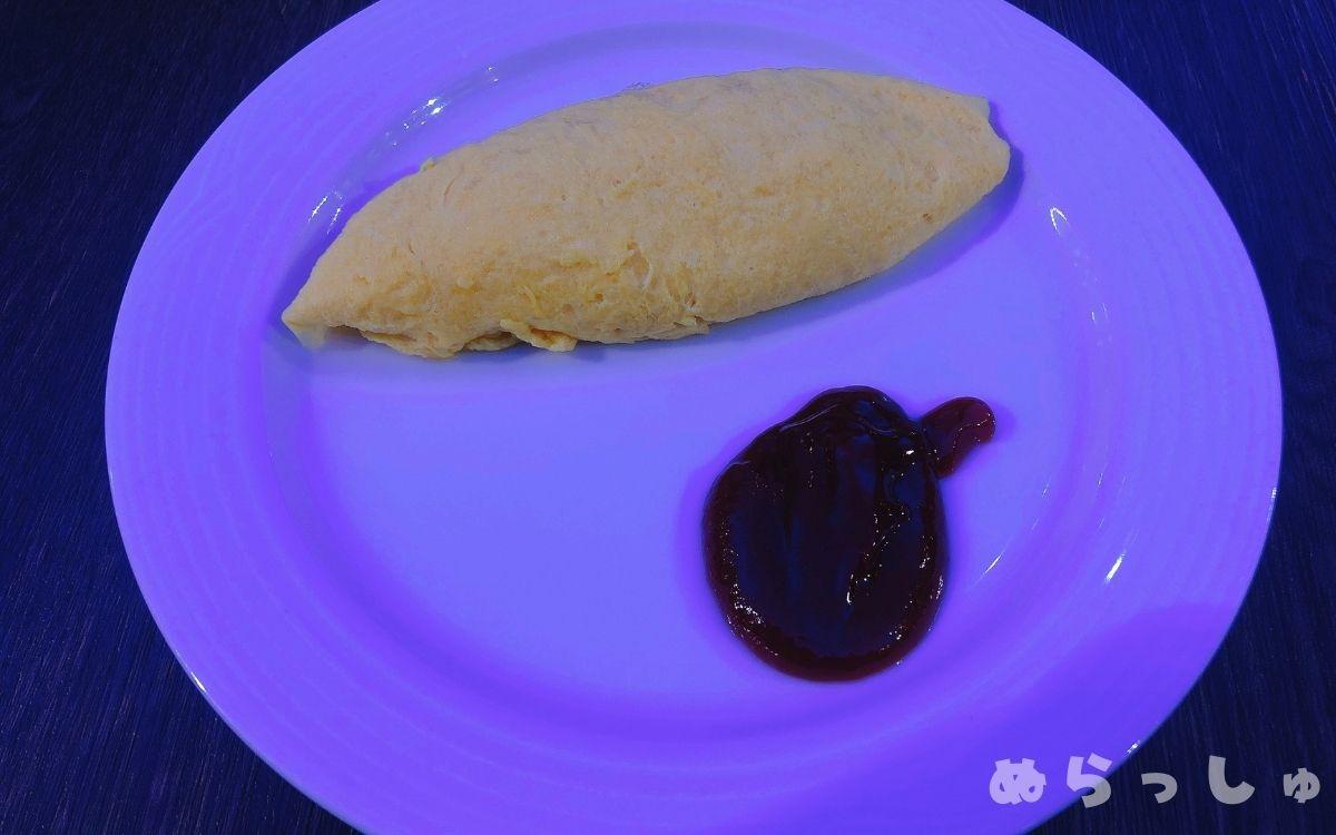 杉乃井ホテル・シーダパレスの朝食バイキングのオムレツ