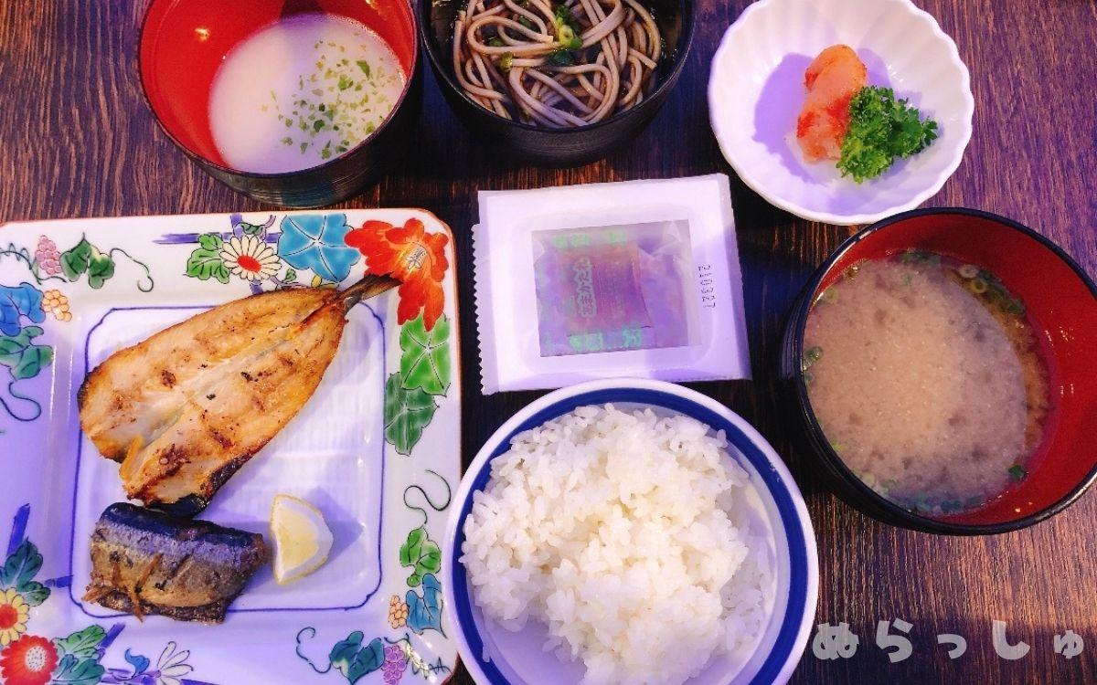 杉乃井ホテル・シーダパレスの朝食バイキングの和食