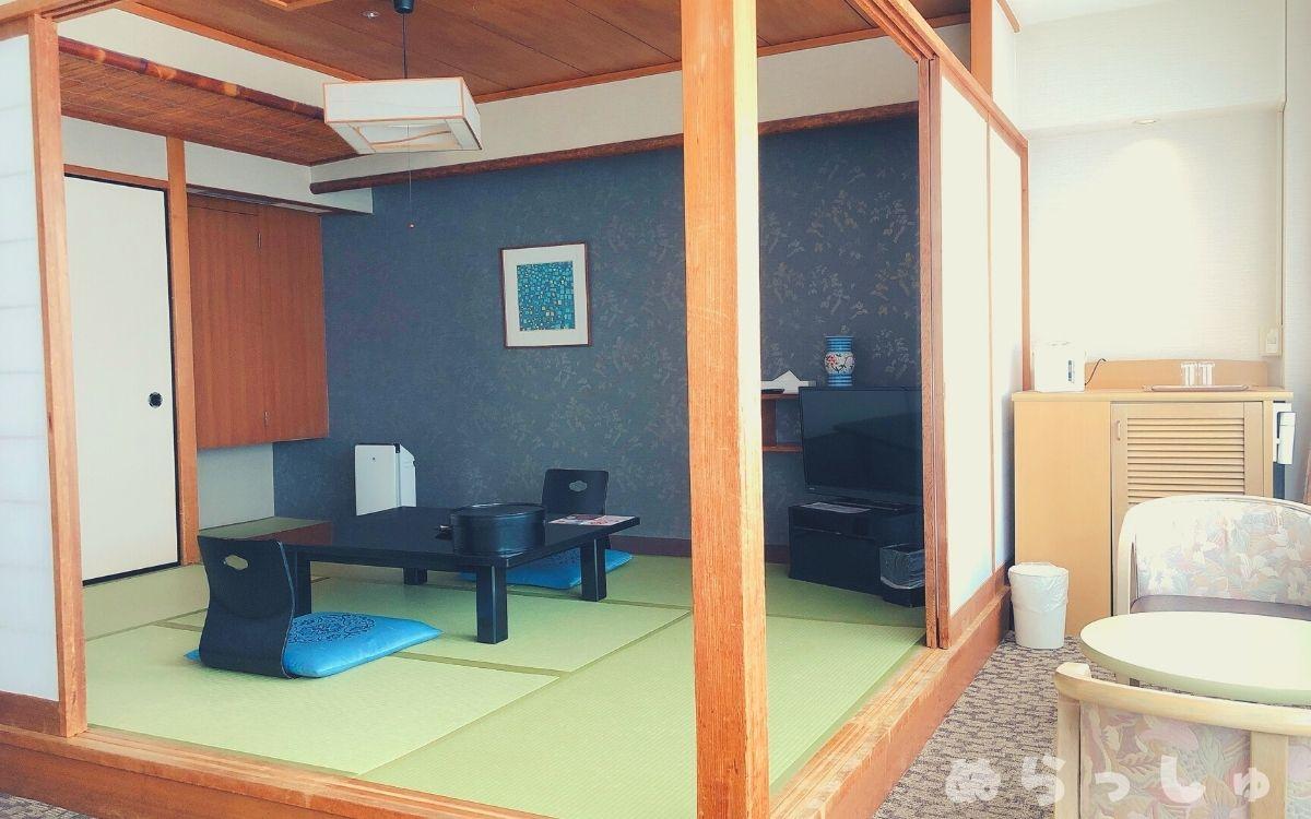 杉乃井ホテル・HANA館の和洋室の和室スペース