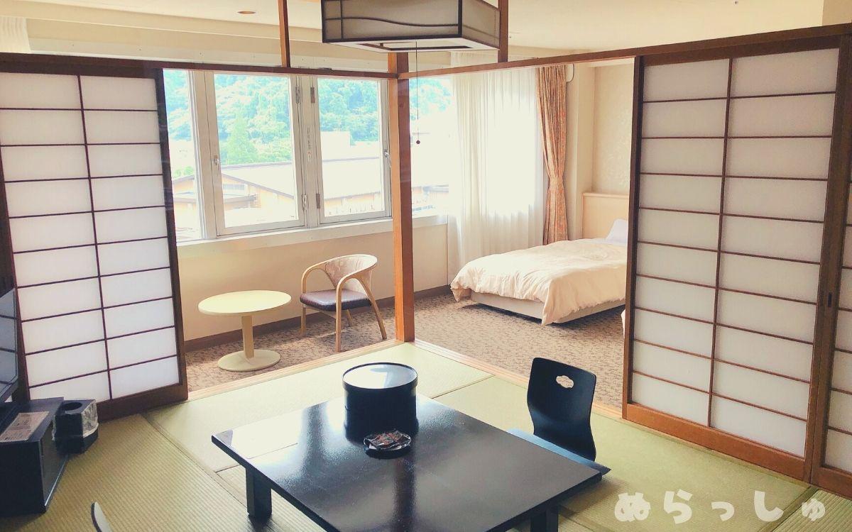 杉乃井ホテル・HANA館の和洋室
