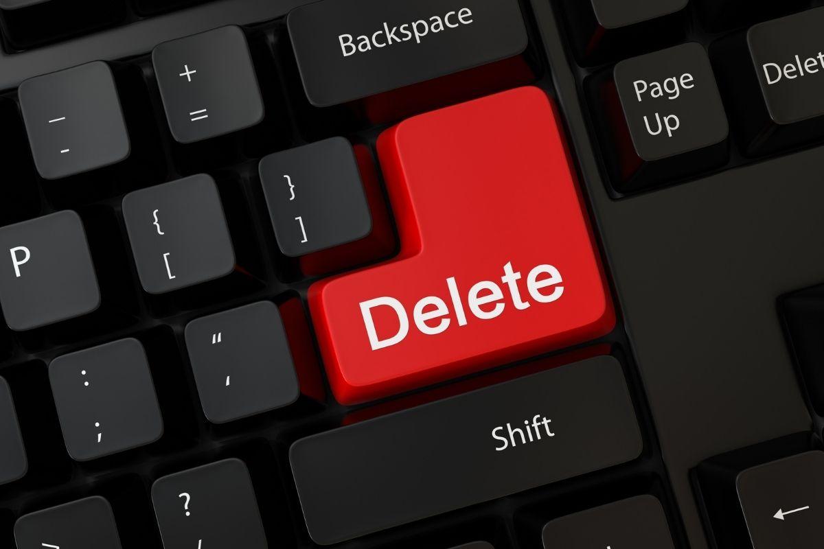 キーボードのデリートボタン
