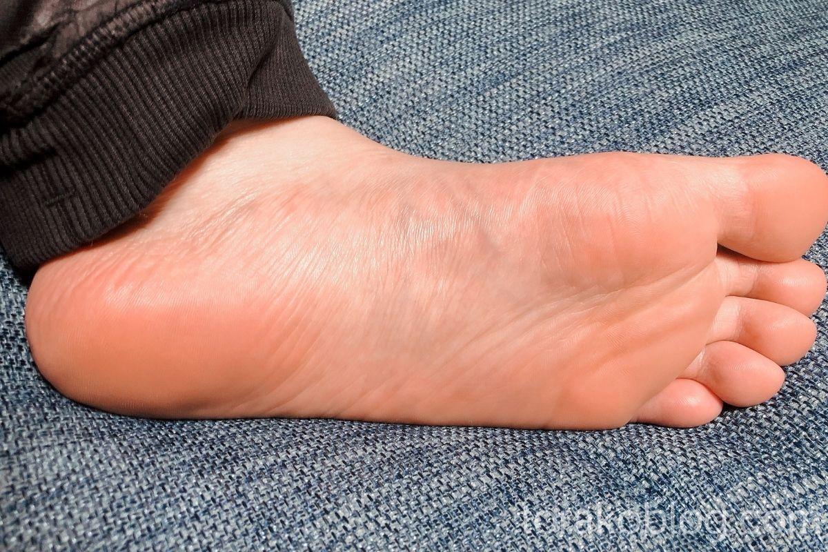 ベビーフットを使用した後の足裏