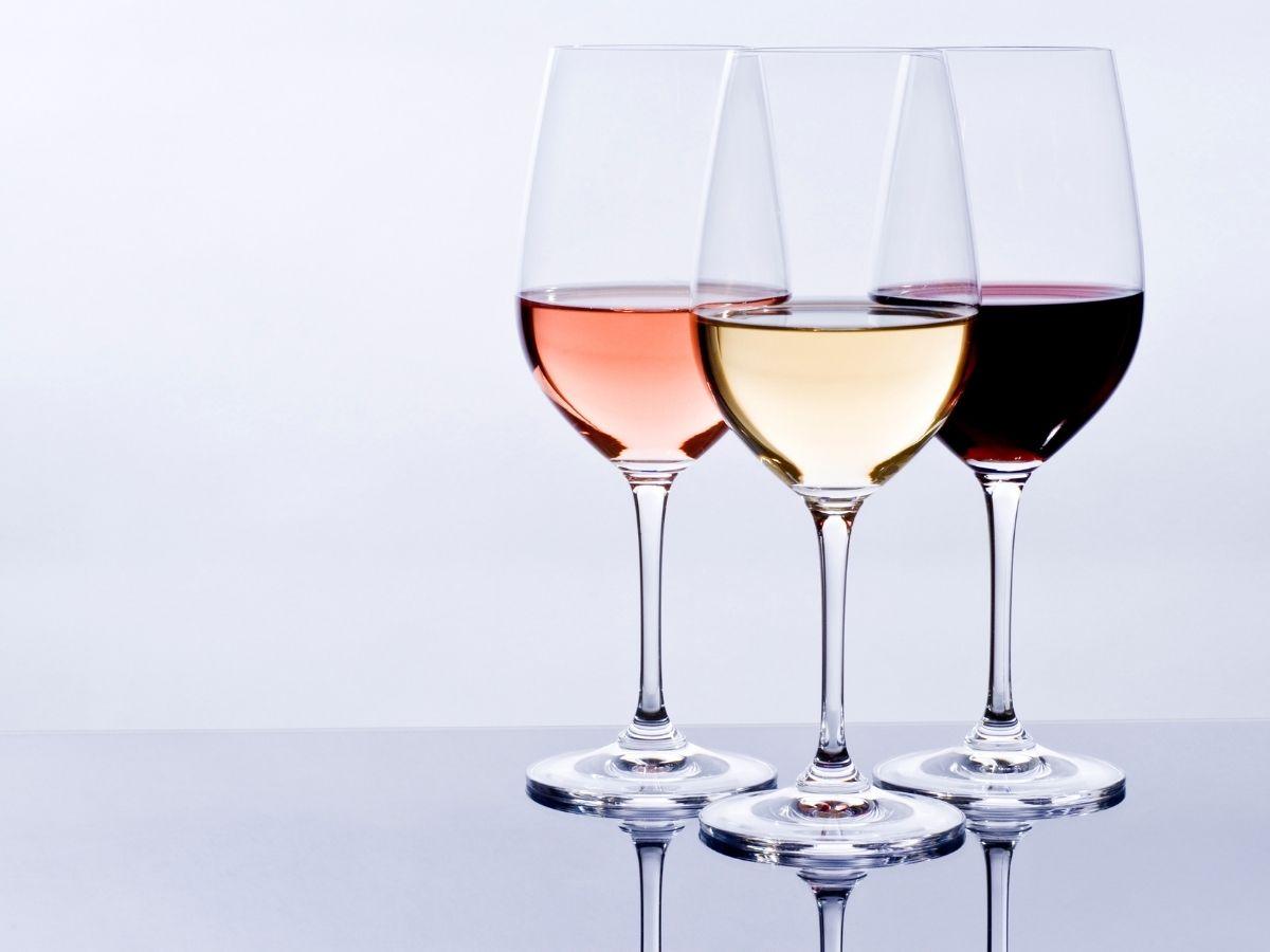 3種類のグラスワイン