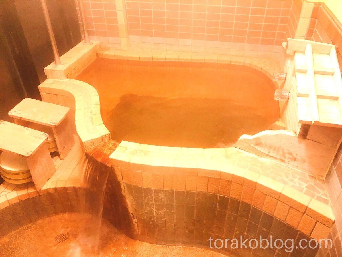 こしかの温泉(家族風呂)の内風呂