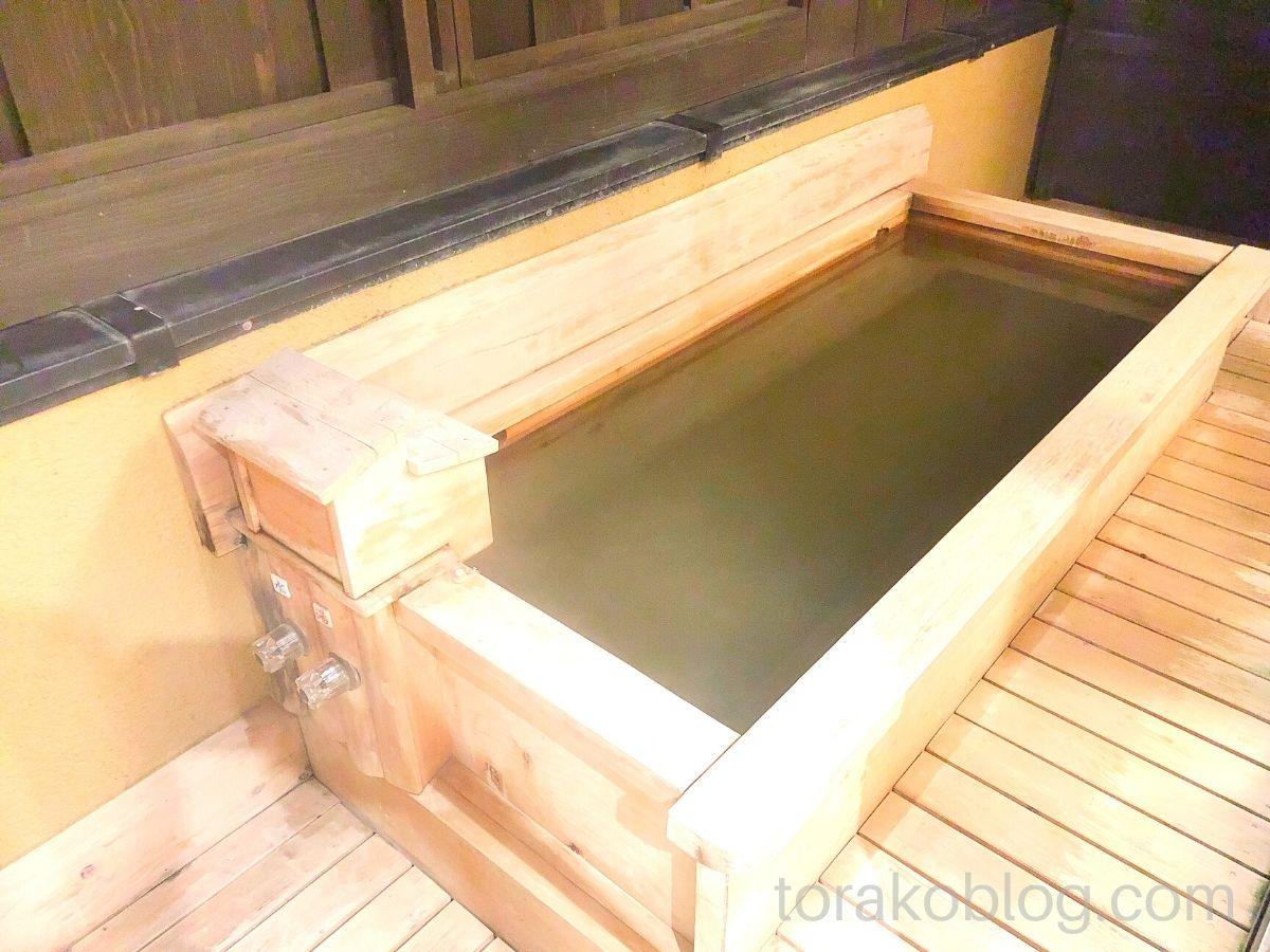 こしかの温泉(家族風呂)の露天風呂
